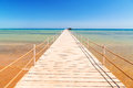 Pier on the beach of red sea in hurghada egypt Stock Photo