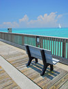 Pier Bench Stock Photography