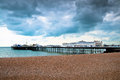 Pier of brighton amusement and boardwalk in england Royalty Free Stock Image