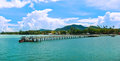 Pier at chalong bay phuket thailand Royalty Free Stock Photo
