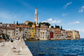 The Pier and the City of Rovinj on Istria Peninsula