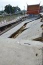 Pier collapse in thailand a Stock Photos