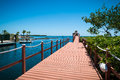 Pier in the Florida Keys Royalty Free Stock Photography