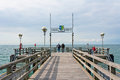 Pier in graal mueritz germany june a popular sea spa town at the baltic sea germany Royalty Free Stock Photography