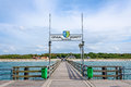 Pier in graal mueritz germany june a popular sea spa town at the baltic sea germany Royalty Free Stock Images