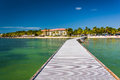 Pier in the Gulf of Mexico in Key West, Florida. Royalty Free Stock Photo