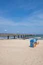 Pier kuehlungsborn baltic sea mecklenburg vorpommern coast germany Stock Image