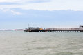 Pier for loading of coal ships Royalty Free Stock Photo