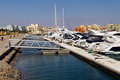 Pier in the marina of el gouna Stock Photo
