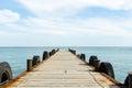 Pier marine dock ships on the beach Royalty Free Stock Image