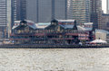 Pier new york at south street seaport in lower manhattan Royalty Free Stock Photo