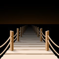 Pier night detailed illustration Royalty Free Stock Photography
