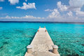 Pier in paradise caribbean sea Royalty Free Stock Photo