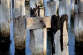 Pier post close up Royalty Free Stock Photo