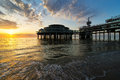 Pier in Scheveningen. Royalty Free Stock Photo
