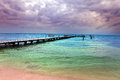 Pier in the sea Royalty Free Stock Photo