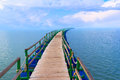 Pier sea landscape perspective Royalty Free Stock Photo