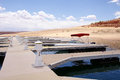 Pier for small boats  in Lake Powell Royalty Free Stock Photo