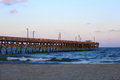 Pier in south carolina surfside at sunset at the beach sc Stock Photos