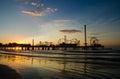 Pier at sunrise Royalty Free Stock Photo