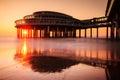 Pier Sunset Royalty Free Stock Photo