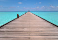 Pier travel around the maldives Royalty Free Stock Image