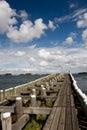 Pier in veere netherlands zeeland Royalty Free Stock Images