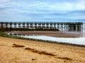 Pier on Walnut beach Royalty Free Stock Photo