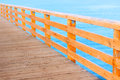 Pier wooden baltic sea promenade Royalty Free Stock Photo
