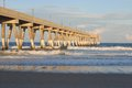 Pier at wrightsville beach in wilmington nc the late afternoon Royalty Free Stock Image