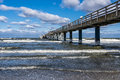 Pier in zingst germany on shore of the baltic sea Stock Photo