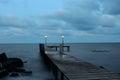 Pierce the black sea coast varna bulgaria Stock Photography