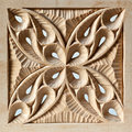Pierced carved wood panel Royalty Free Stock Photo
