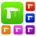 Piercing gun set color collection Royalty Free Stock Photo