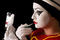 Pierrot make-up Royalty Free Stock Photography
