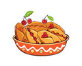 Pies with berries and jam vector illustration Stock Photography