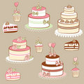 Pies and cakes Royalty Free Stock Photo