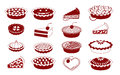 Pies monochrome vector icons of américain pastry Royalty Free Stock Photography