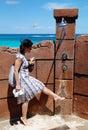 Pies que se lavan en paraíso Imagen de archivo libre de regalías