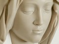The pieta by michelangelo face of the virgin detail head from michelangelos in st peters basilica rome italy Stock Photography