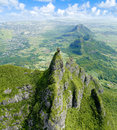 Pieter both mountain mauritius aerial view of Royalty Free Stock Images