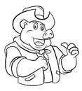 Pig Cowboy Royalty Free Stock Photo