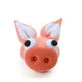 Pig craft on white Royalty Free Stock Photography
