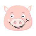 Pig Face Vector Illustration in Flat Design Royalty Free Stock Photo