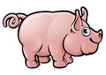 Pig Farm Animals Cartoon Character Royalty Free Stock Photo