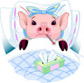 Pig Flu Royalty Free Stock Photography