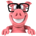 Pig and glasses cute pink happy d generated Stock Photography