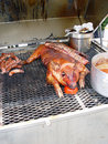 Pig on grill Royalty Free Stock Photography