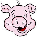 Pig Head Royalty Free Stock Images