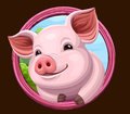 Pig icon with frame